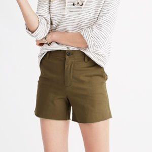 Madewell High-Rise Twill Shorts - NWT